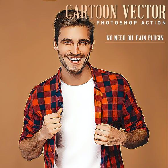 Cartoon Vector Photoshop Action