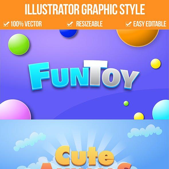 Illustrator Game Logo Graphic Styles