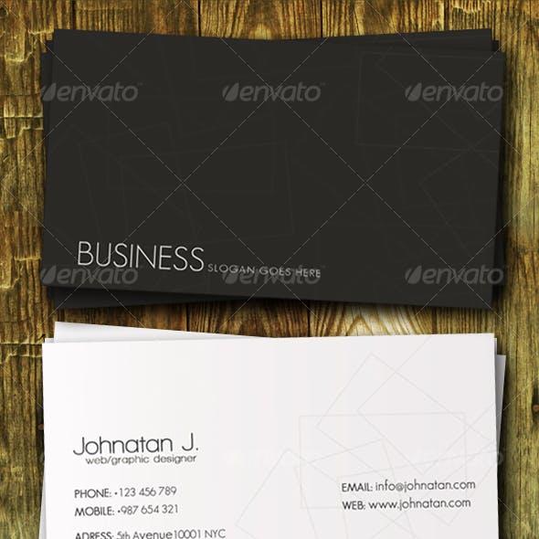 Classy Black&White Business Card