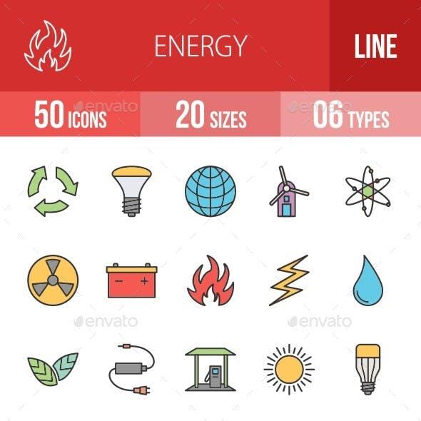Energy Filled Line Icons Season II