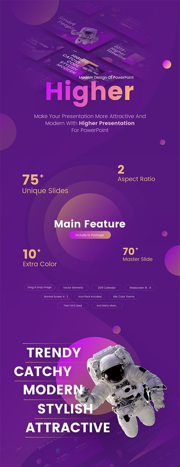 Higher Creative Startup Technology Powerpoint Template By Brandearth