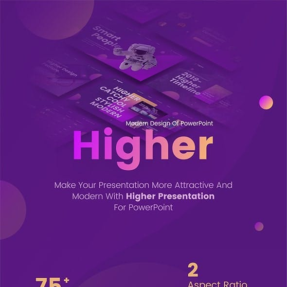 Higher Creative Startup Technology PowerPoint Template