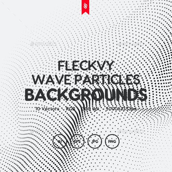 Fleckvy - Abstract Futuristic Wave Particles on White Background