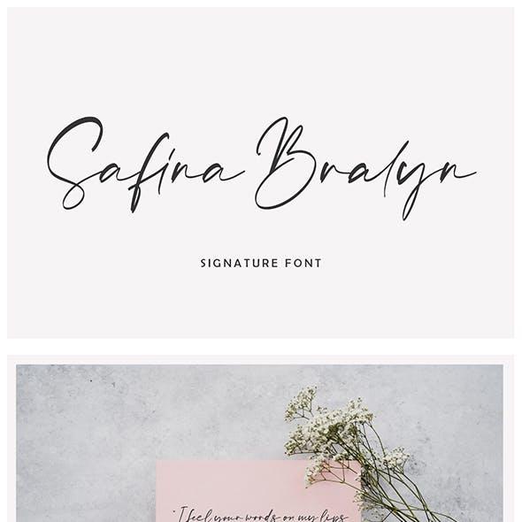Safina Bralyn Signature Font