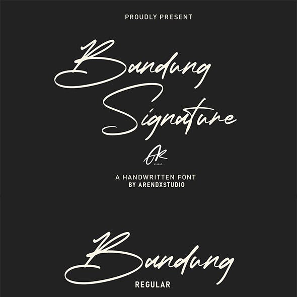 Bandung Signature Modern Font