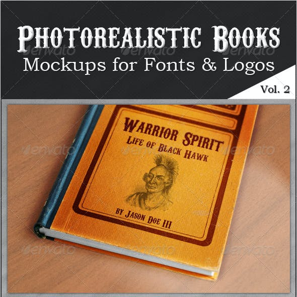Photorealistic Books Mockups, Vol. 2