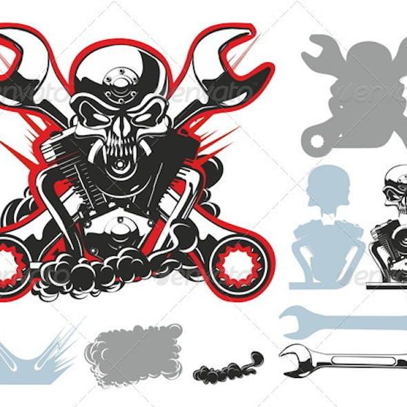 Bikers Symbols Set