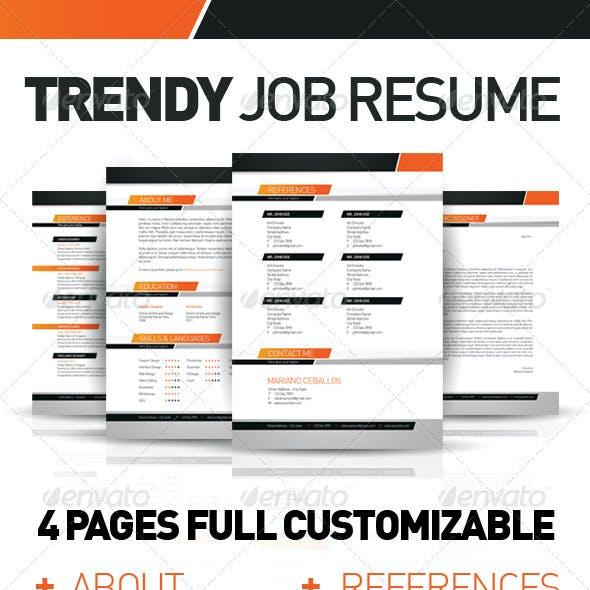 Trendy Job Resume Set