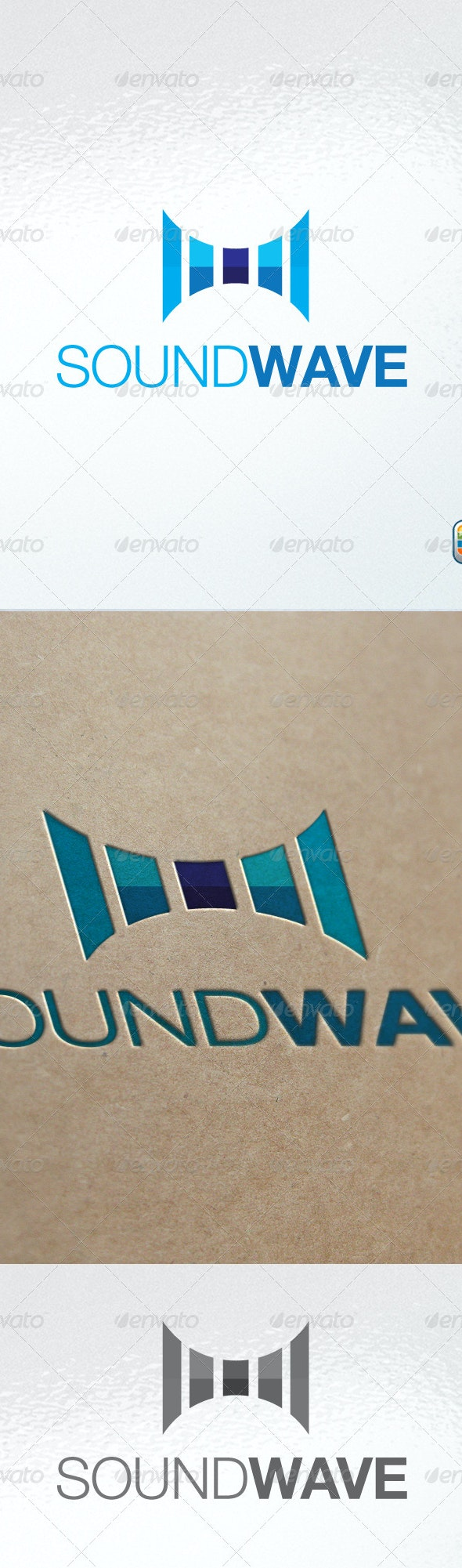 Sound wave - Abstract Logo Templates