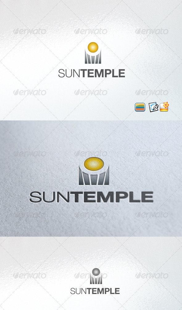 Sun Temple - Vector Abstract