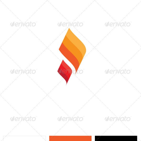 Fire Paper Logo Template