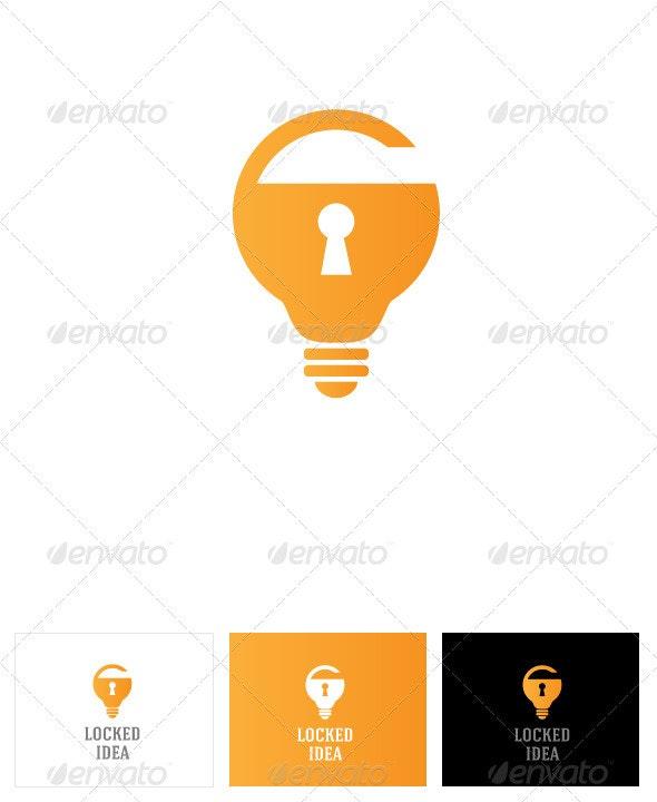 Locked Idea Logo Template - Logo Templates