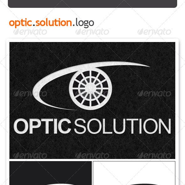 Optic Solution Logo Template