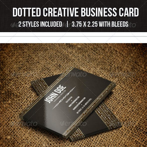 Dotted Creative Business Card 21 -  2 styles