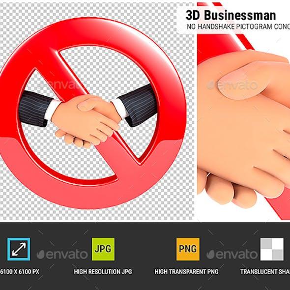3D No Handshake Pictogram Concept