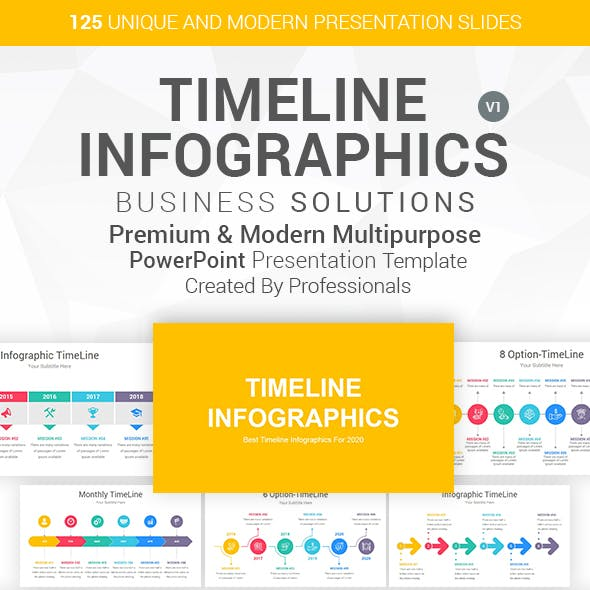 Timeline Infographics-Diagrams PowerPoint Template