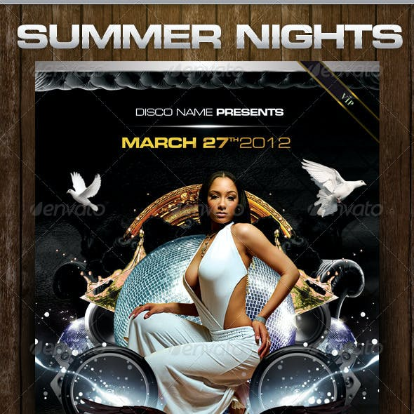 Dark Summer Nights Flyer