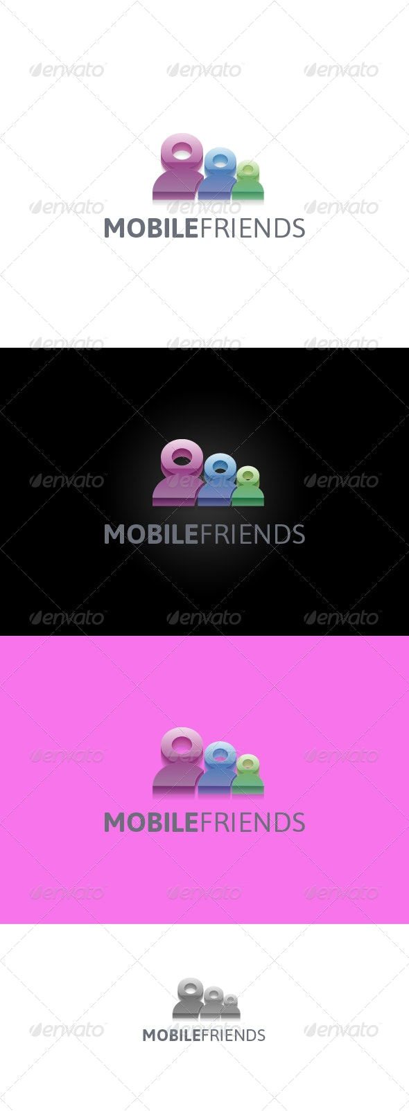 MobileFriends - 3d Abstract