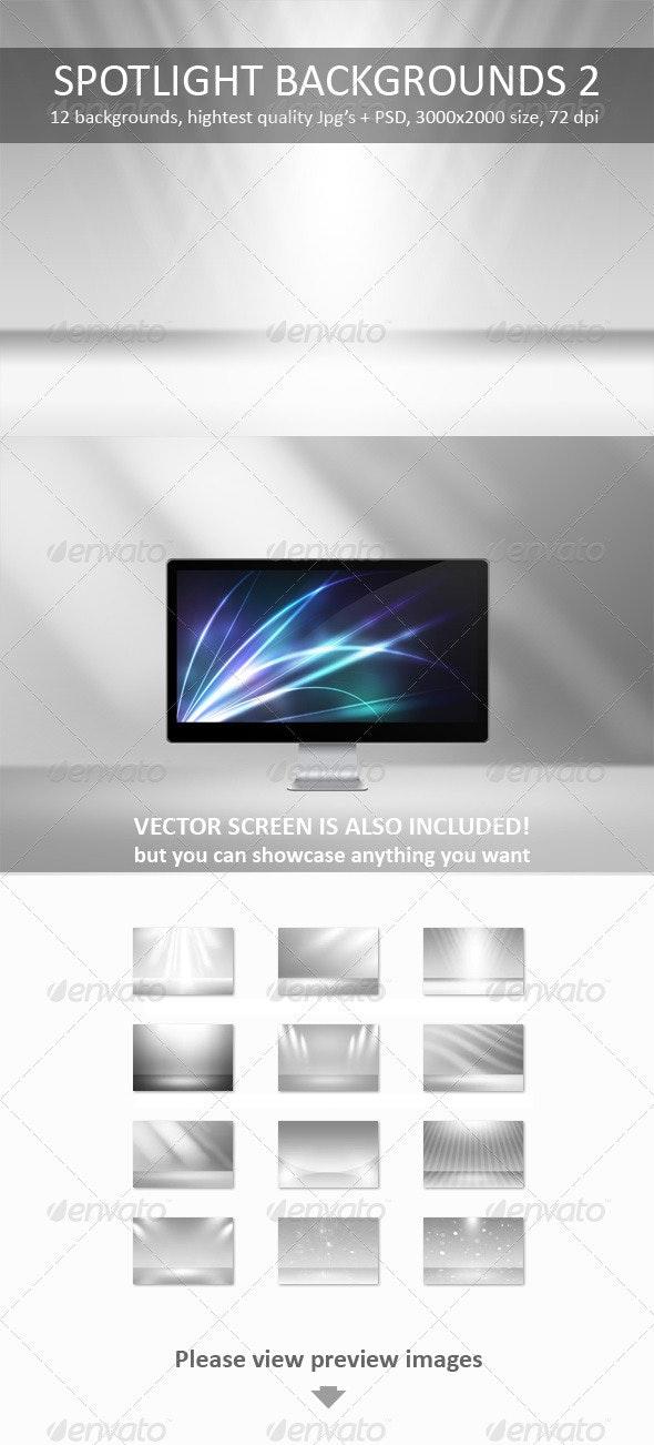 12 Spotlight Backgrounds Pack 2 - Backgrounds Graphics