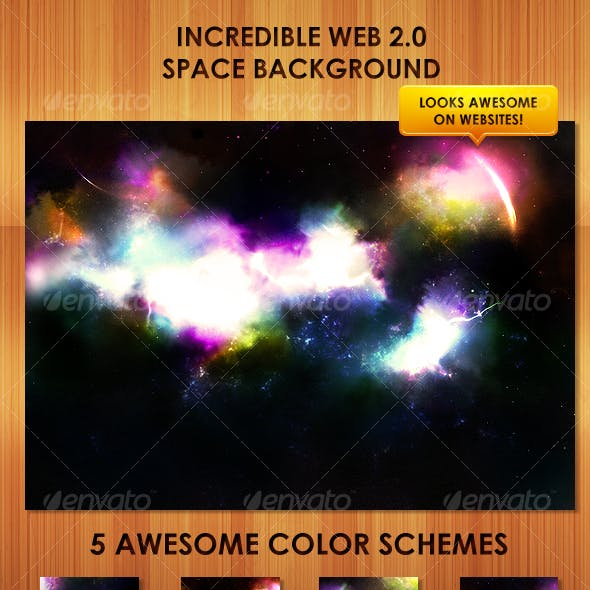 Colorful, detailed web 2.0 Space Background