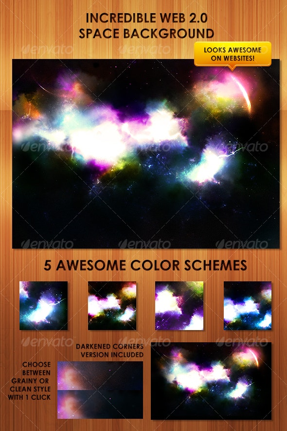 Colorful, detailed web 2.0 Space Background - Backgrounds Graphics
