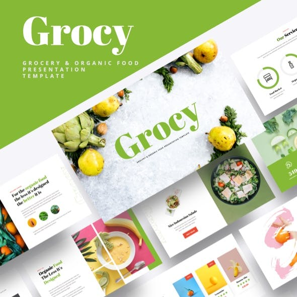 Grocy - Grocery & Organic Food Keynote Template