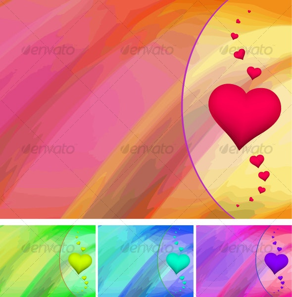 abstract Valentine cards - Valentines Seasons/Holidays