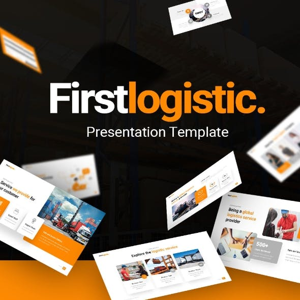 First Logistic Powerpoint Presentation Template Fully Animated