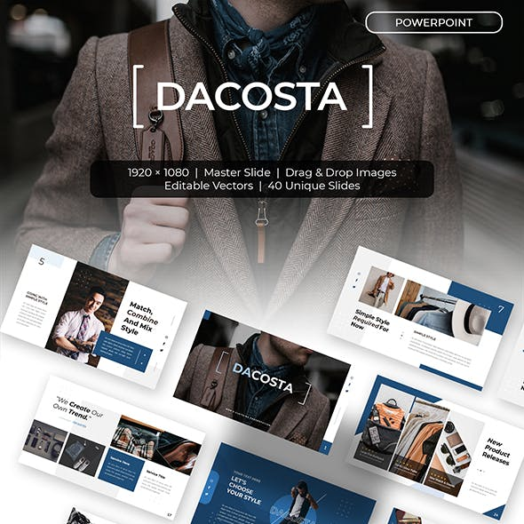 Dacosta - Clothing Presentation Powerpoints Template