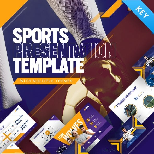 In Games Creative Animated Sport & Games Event Keynote Presentation Template
