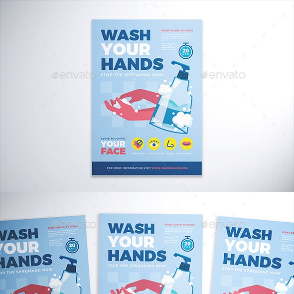 Wash Your Hand Flyer
