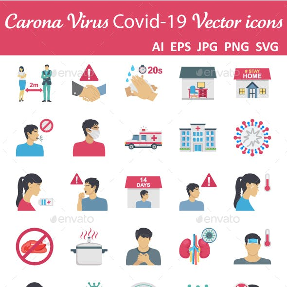 60 Coronavirus Color Vector icon
