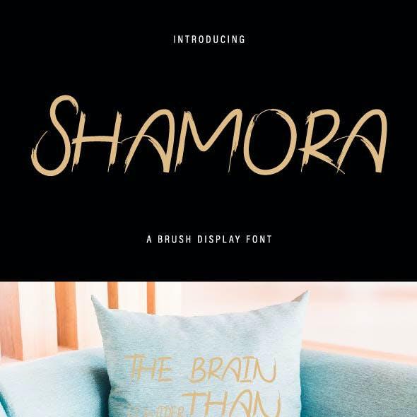 Shamora Brush Font