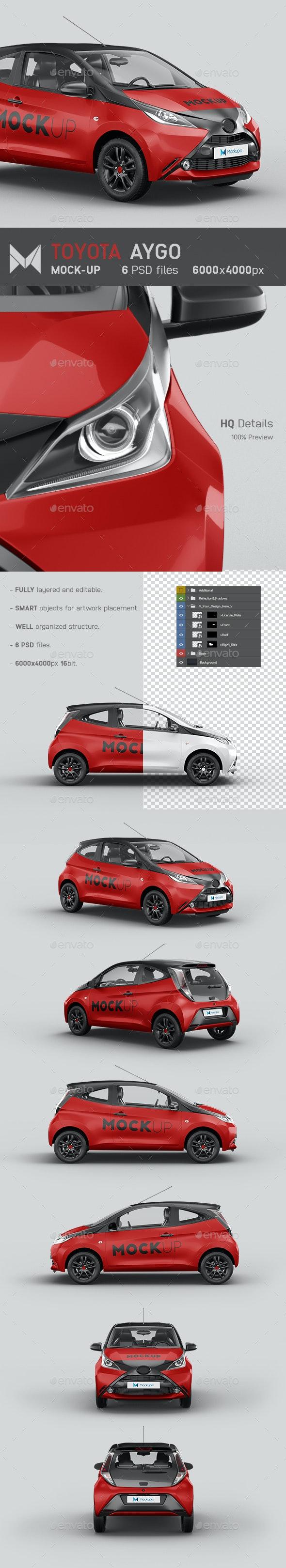 Toyota Aygo Car Mockup - Vehicle Wraps Print
