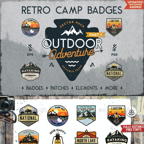Retro Camp Badges Collection. Part 1