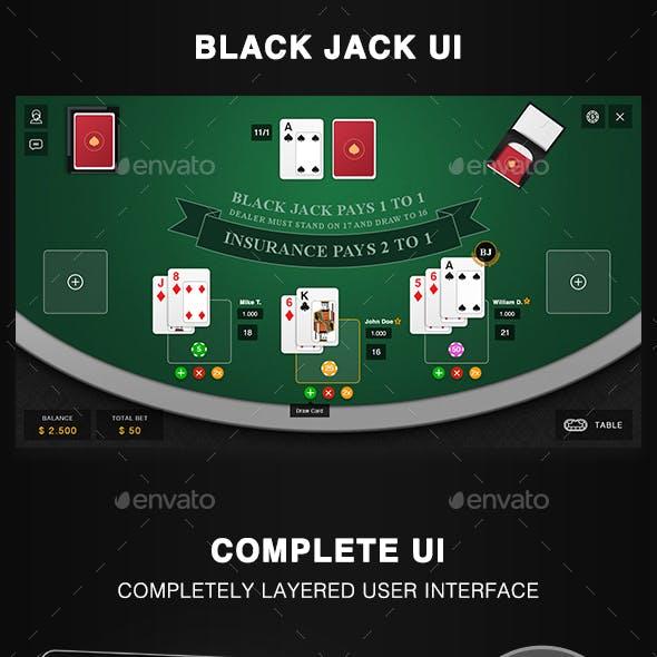 Black Jack Game UI