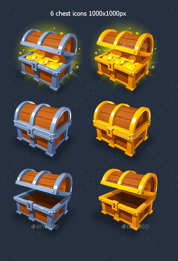 Chest Icons Pack - Miscellaneous Game Assets