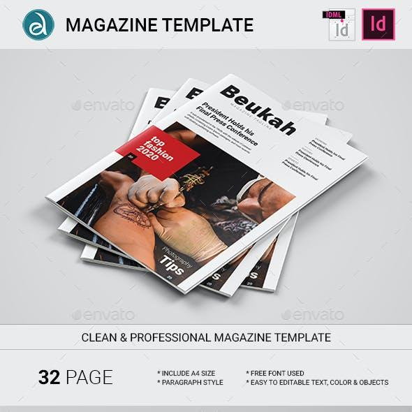 Beukah Magazine Template