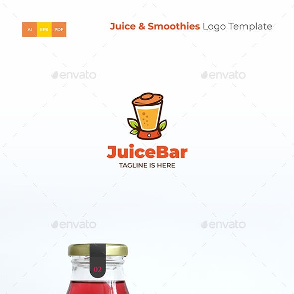 Juice & Smoothies Logo Template