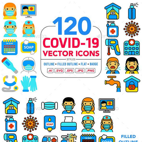 Covid-19 (Coronavirus) Vector Icons