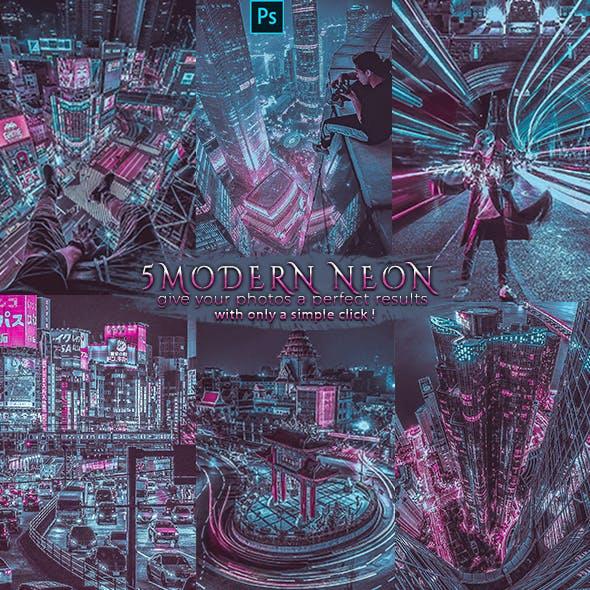Modern Neon -Blogger Insta Photoshop Actions
