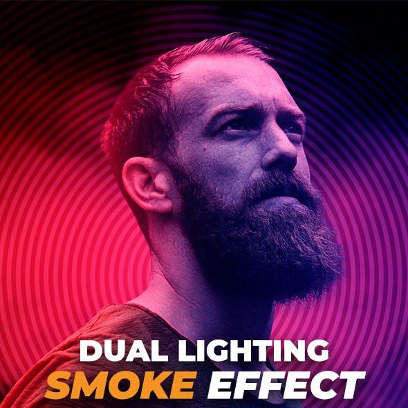 Dual Lighting Smoke Effect Photoshop Action