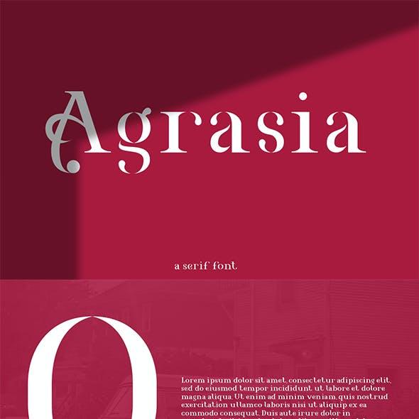Agrasia | Serif Font
