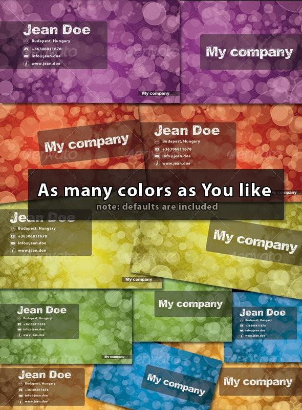 Cute bokeh Business card - Creative Business Cards
