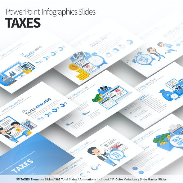 TAXES - PowerPoint Infographics Slides