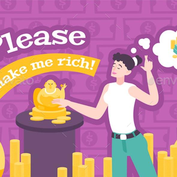 Hotei Money Rich Composition