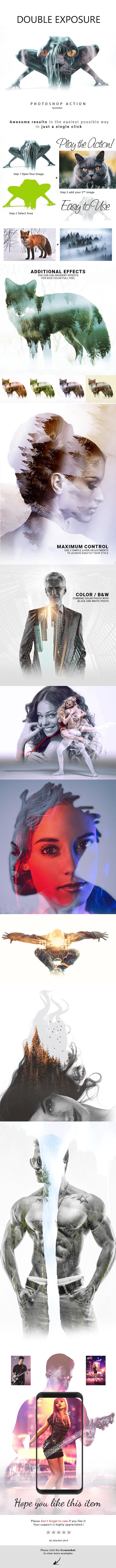 Double Exposure Photoshop Action-2