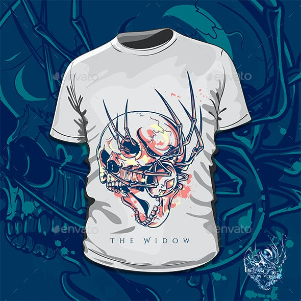 The Widow T-Shirt Design