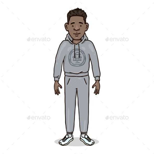 Man in Gray Sport Suit