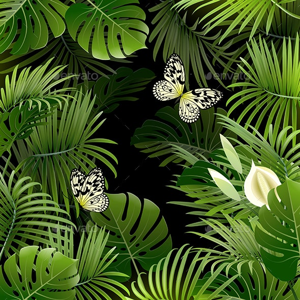 Banner With Tropical Plants By Vicgmyr Graphicriver